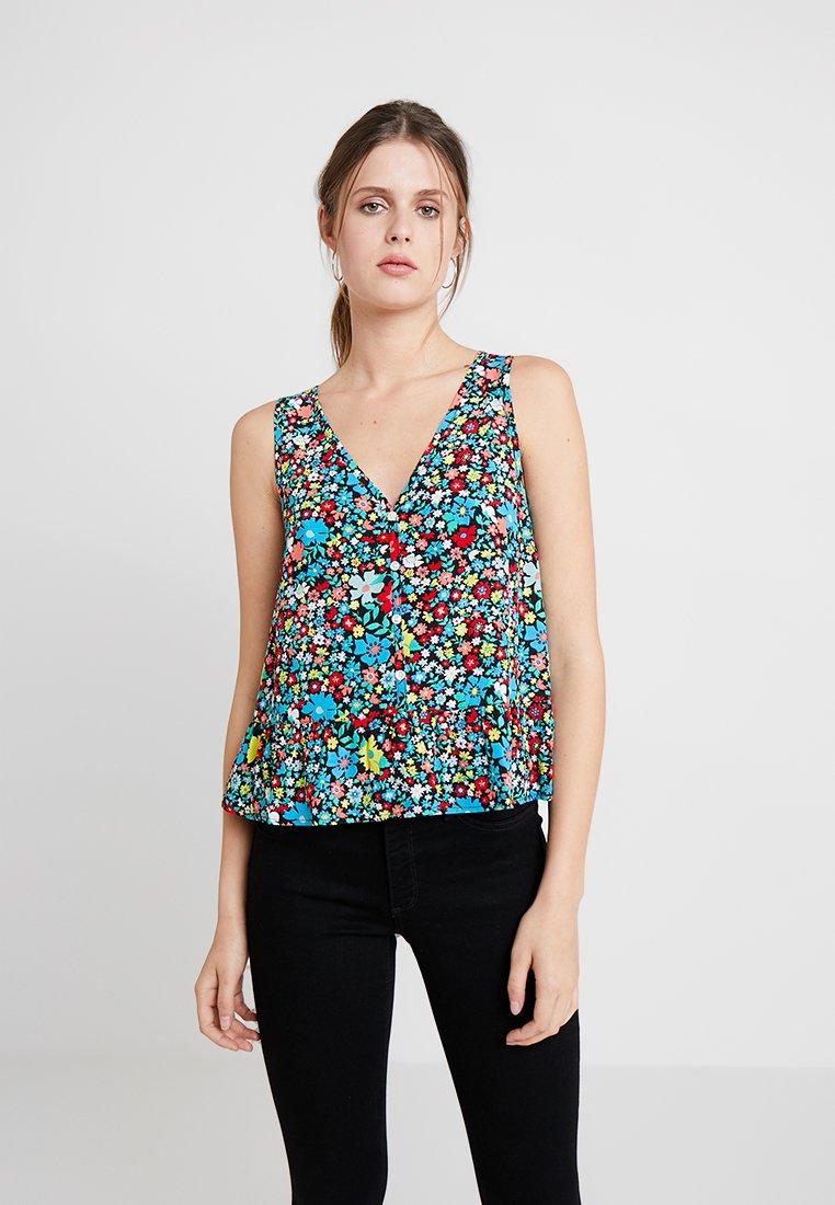 Calvin Klein Jeans - FLORAL V NECK CAMI - Blouse - cali
