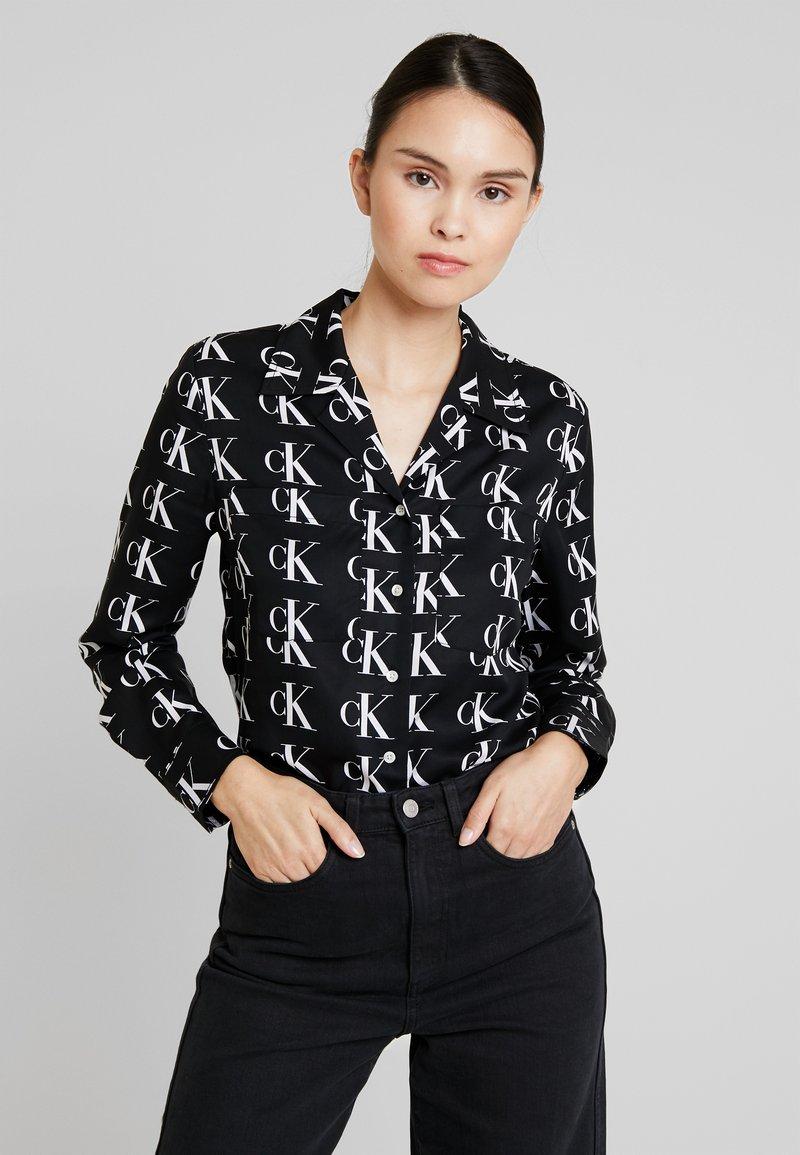 Calvin Klein Jeans - UTILITY - Hemdbluse - black/white