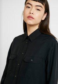Calvin Klein Jeans - DRAPEY UTILITY SHIRT - Button-down blouse - ck black - 4