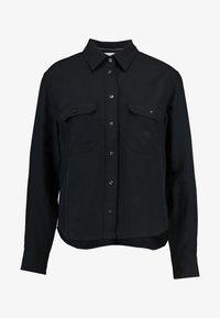 Calvin Klein Jeans - DRAPEY UTILITY SHIRT - Button-down blouse - ck black - 3