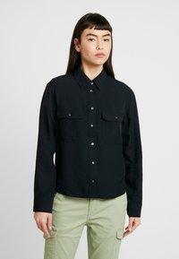 Calvin Klein Jeans - DRAPEY UTILITY SHIRT - Button-down blouse - ck black - 0