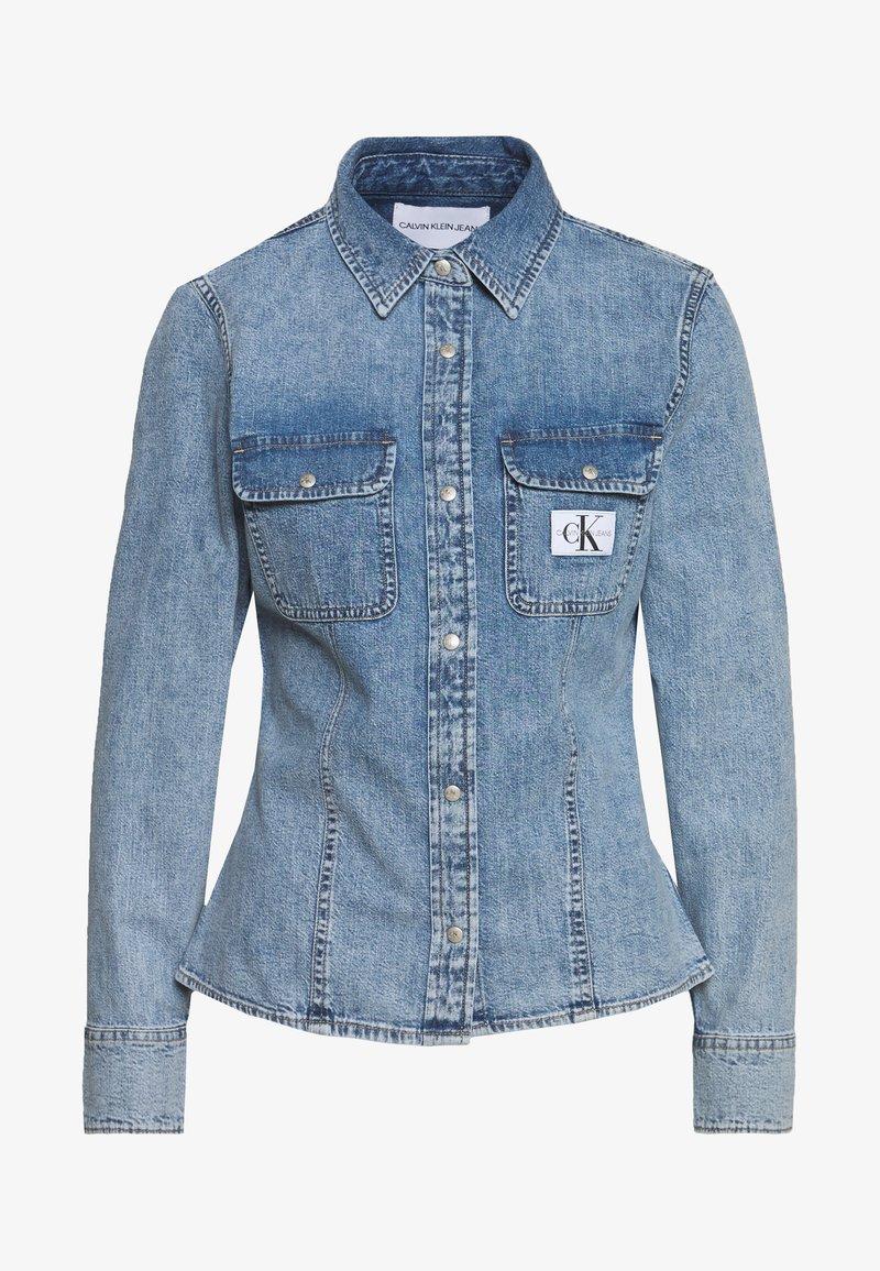 Calvin Klein Jeans - ARCHIVE LEAN - Chemisier - light blue