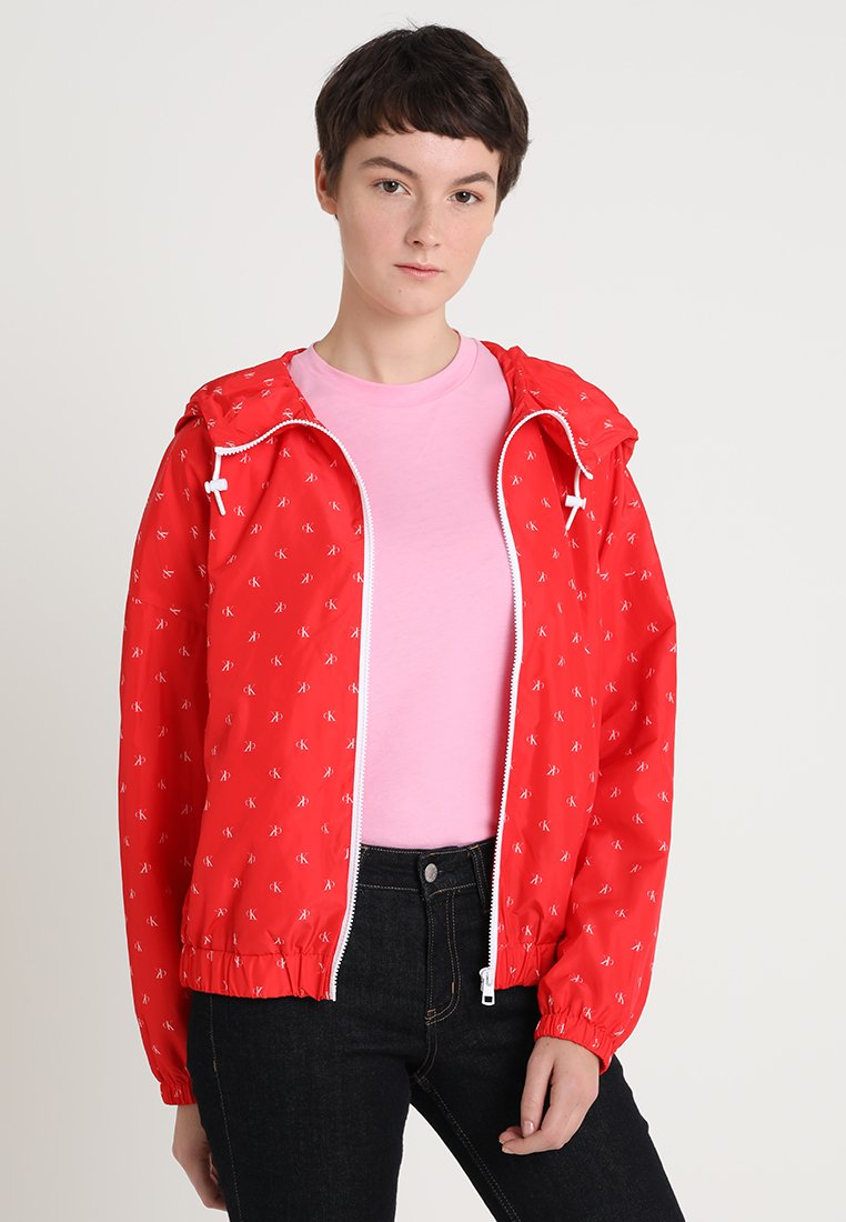 Calvin Klein Jeans - MONOGRAM - Windbreaker - racing red/white