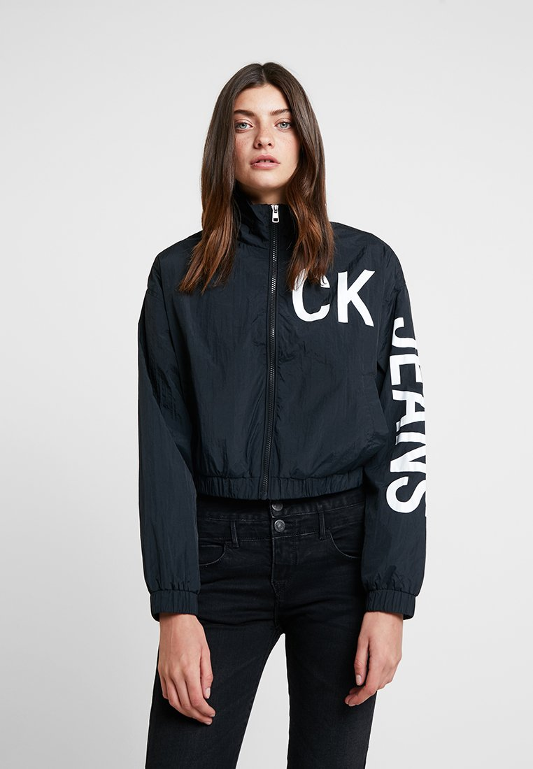 Calvin Klein Jeans - CROPPED - Windbreaker - black/bright white