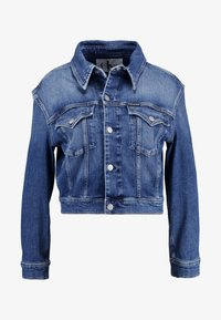 Calvin Klein Jeans - CROPPED FOUNDATION TRUCKER - Jeansjacke - iconic mid stone - 5