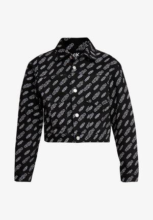 CROPPED OMEGA JACKET - Spijkerjas - washed black