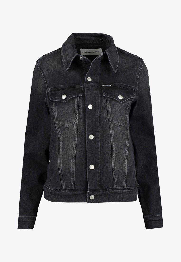 Calvin Klein Jeans - FOUNDATION TRUCKER - Jeansjacke - black