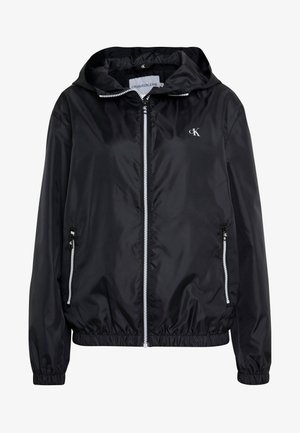LARGE LOGO HOODED ZIP THROUGH - Veste légère - black
