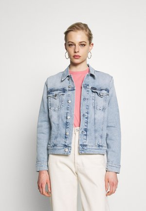 FOUNDATION TRUCKER - Kurtka jeansowa - bleached blue