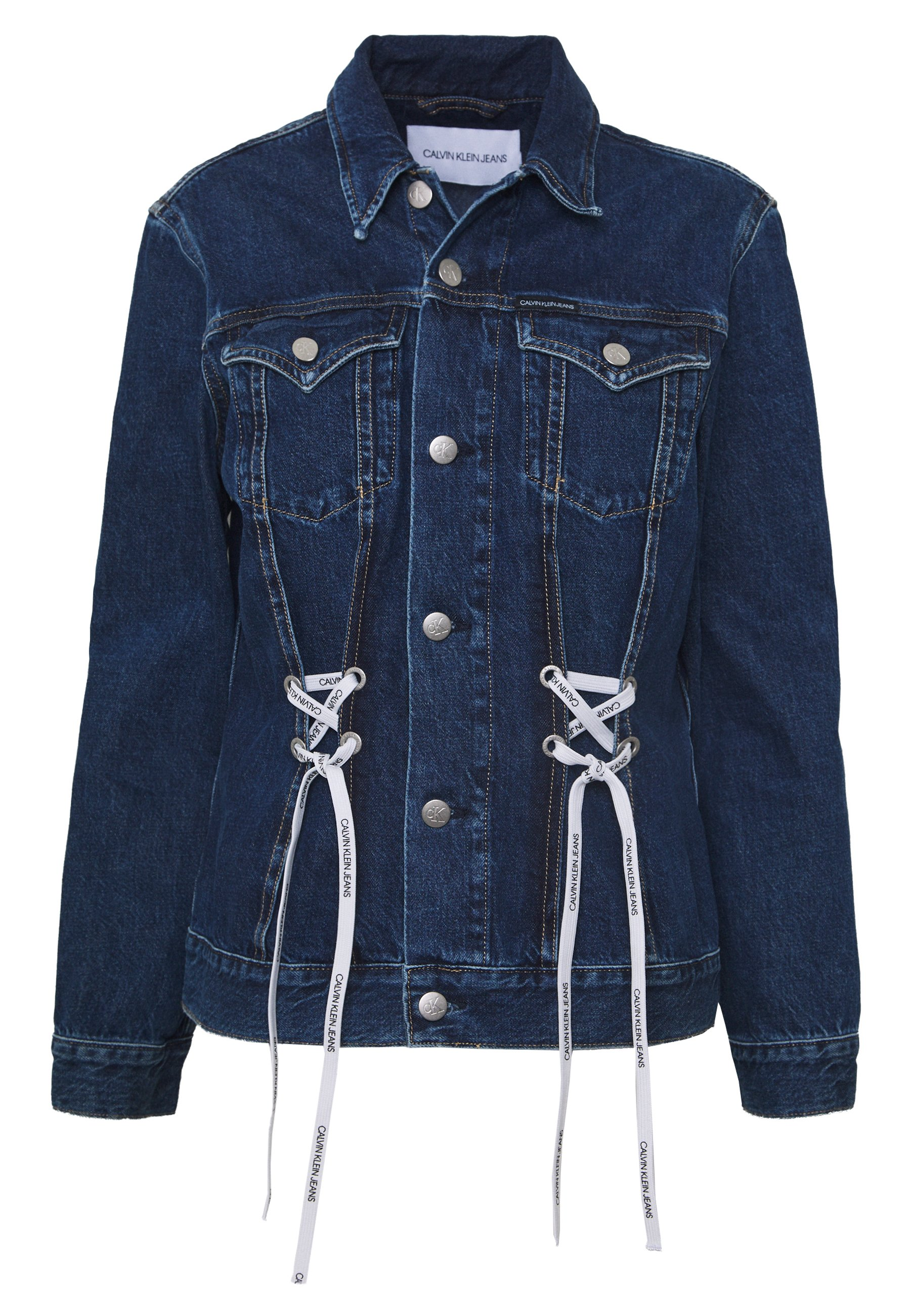 Calvin Klein Jeans FOUNDATION TRUCKER - Giacca di jeans - dark blue