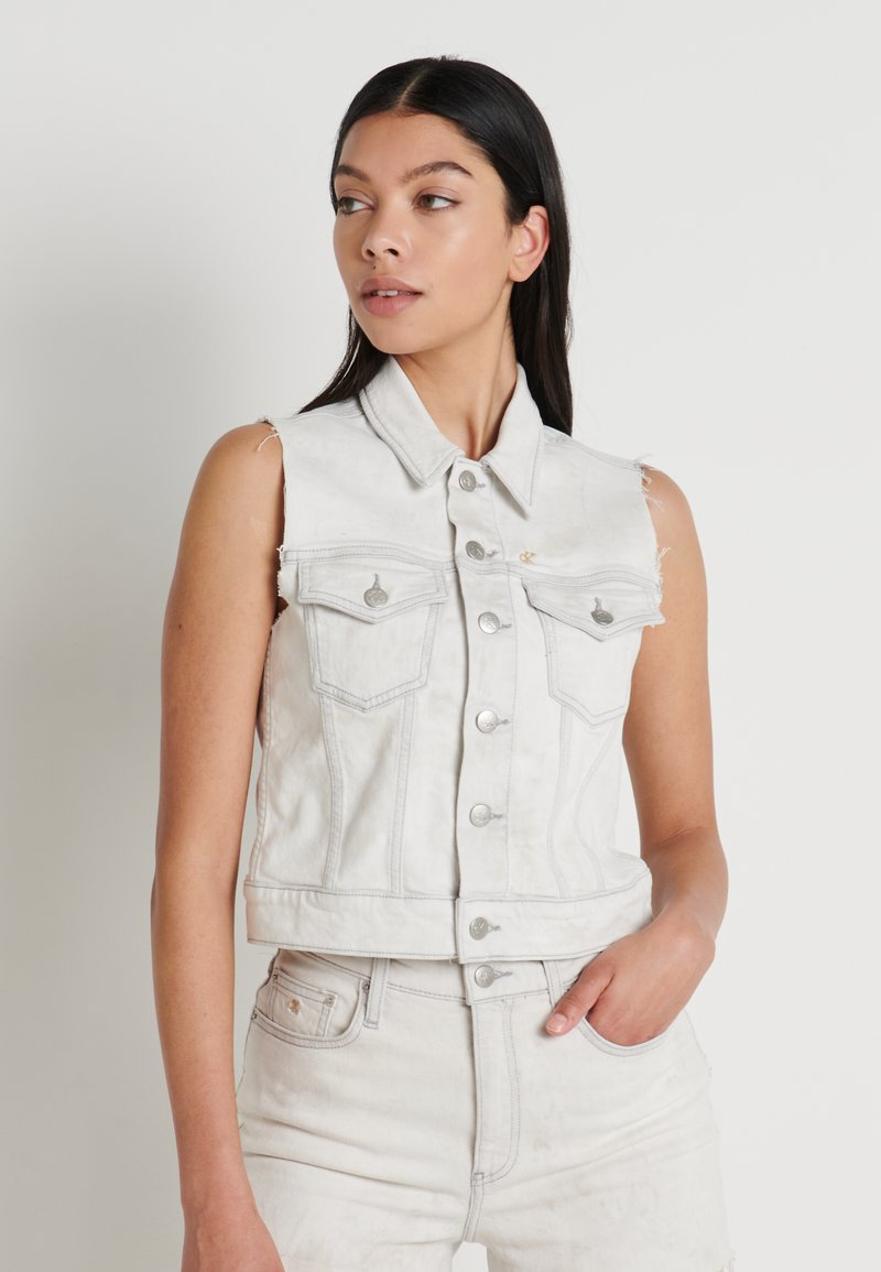 Calvin Klein Jeans - ARCHIVE VEST - Smanicato - bleach grey