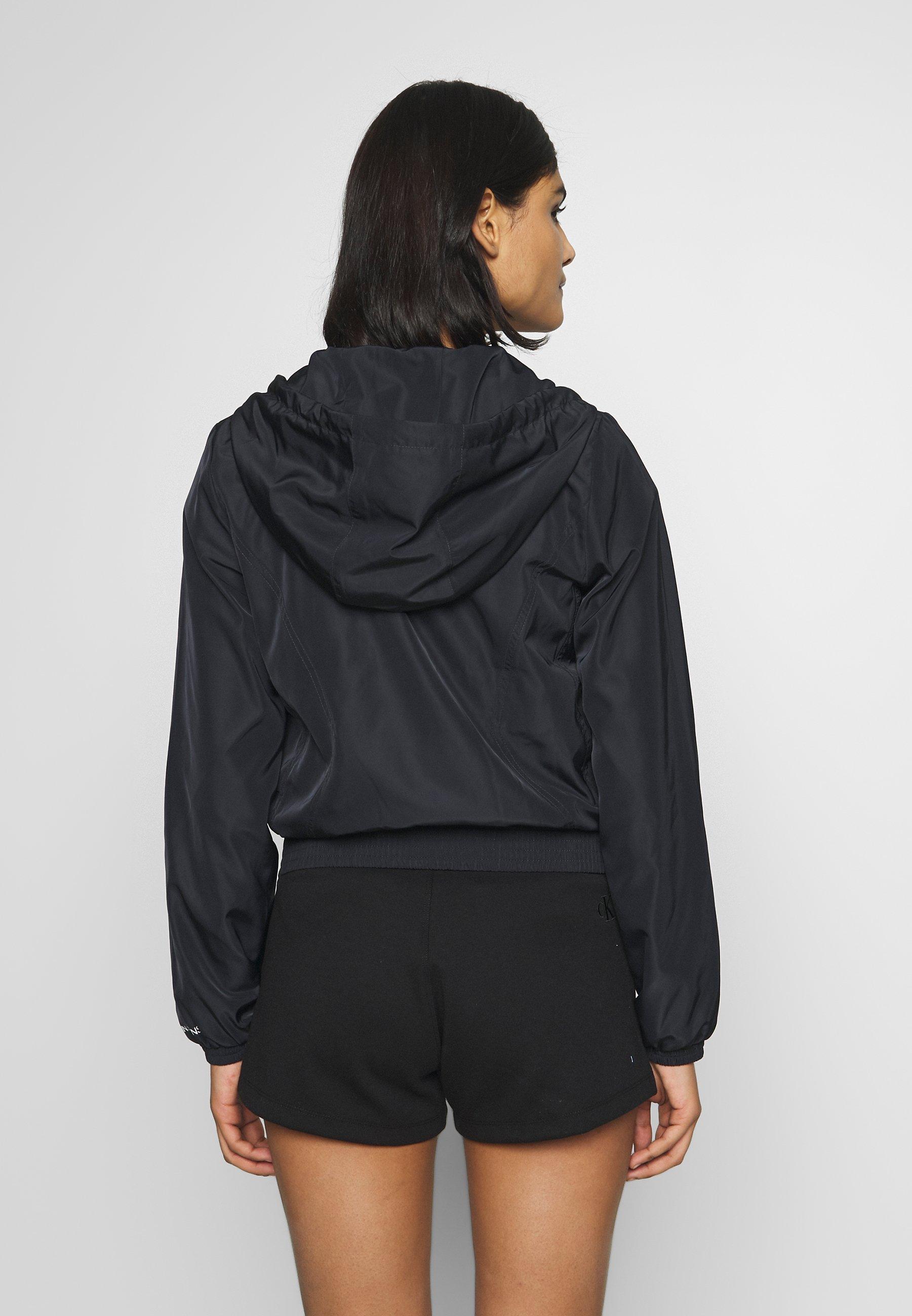 Calvin Klein Jeans HOODED ZIP THROUGH WITH SEAMING - Lett jakke - black