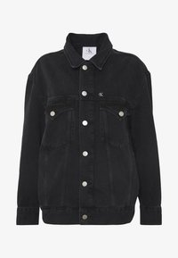 Calvin Klein Jeans - CK ONE OVERSIZED FOUNDATION - Giacca di jeans - black stone - 5