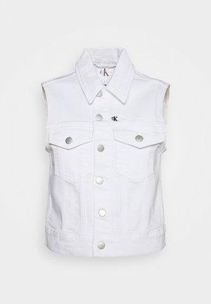 VEST - Waistcoat - denim white