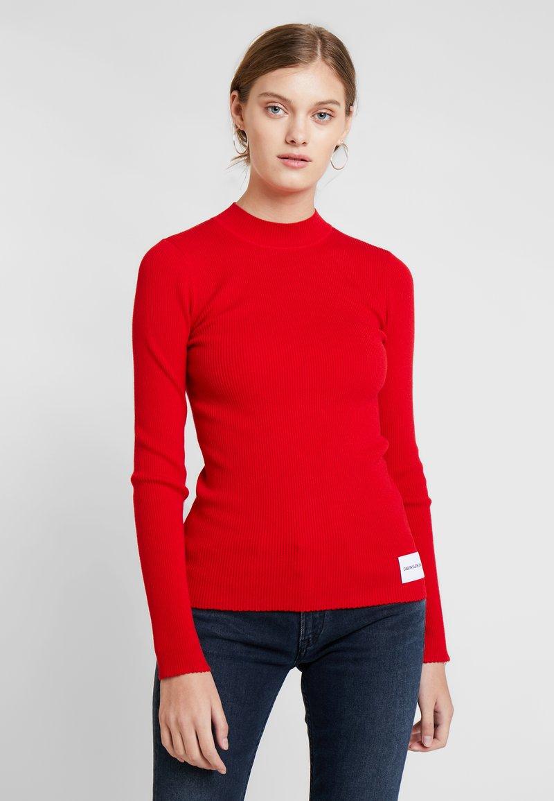 Calvin Klein Jeans - ICONIC CREW NECK - Strickpullover - barbados cherry