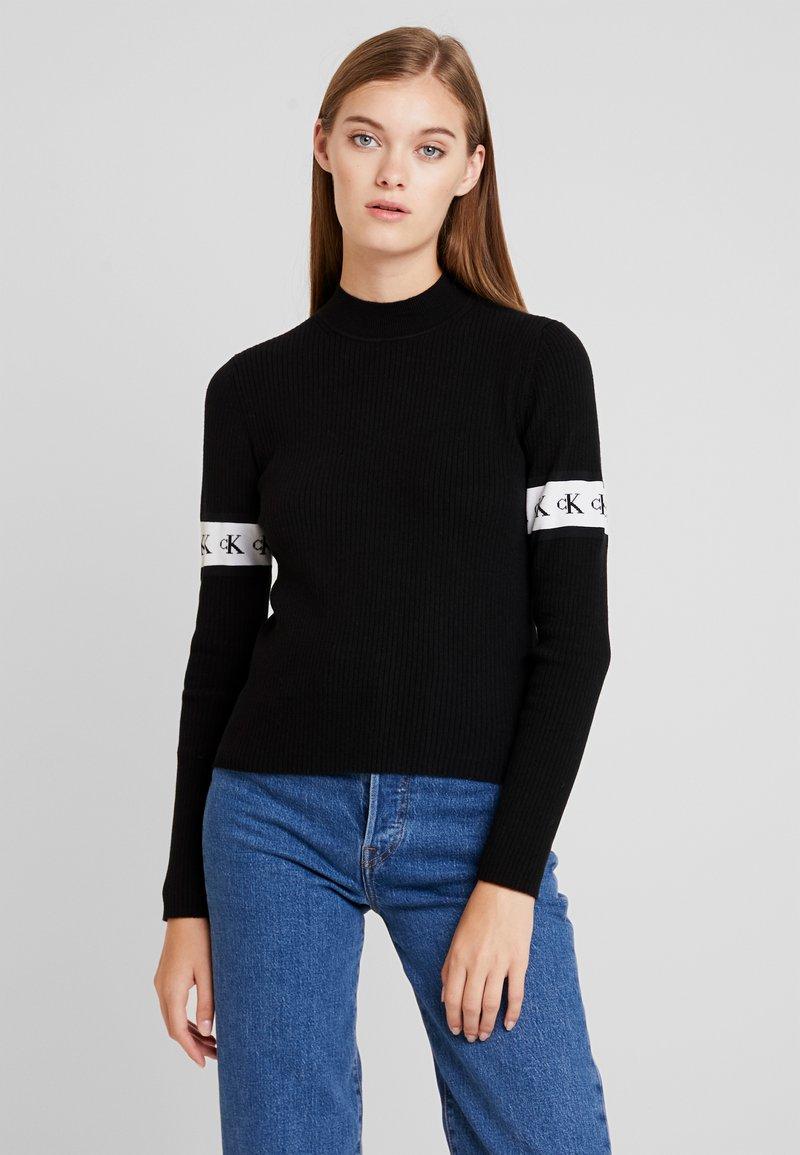 Calvin Klein Jeans - MONOGRAM TAPE - Jumper - black