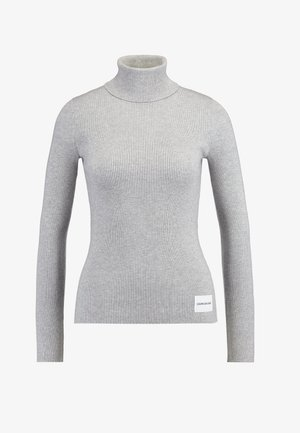 ICONIC TURTLE NECK - Jumper - light grey heather