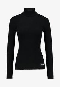 Calvin Klein Jeans - ICONIC TURTLE NECK - Stickad tröja - black - 4