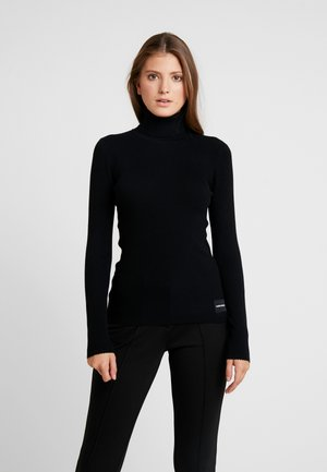 ICONIC TURTLE NECK - Strickpullover - black