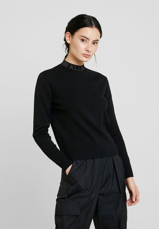 NECK LOGO - Jersey de punto - black