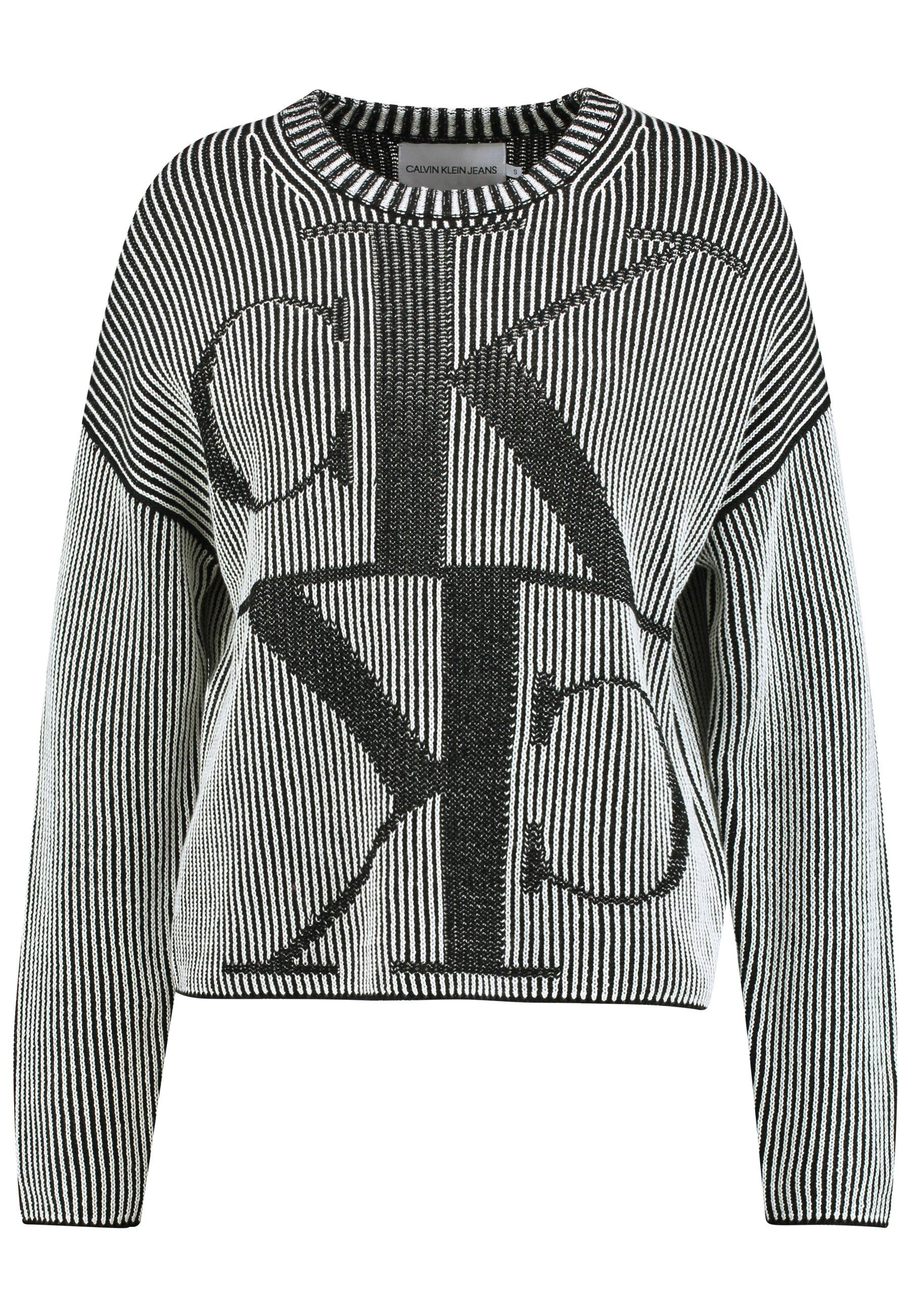 Calvin Klein Jeans Mirrored Monogram - Strikpullover /striktrøjer Black