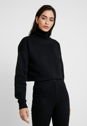 OVERSIZED TURTLE NECK - Strickpullover - black