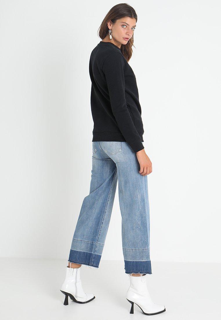 Monogram Calvin Jeans LogoSweatshirt Klein Black Core 8nw0Nmv