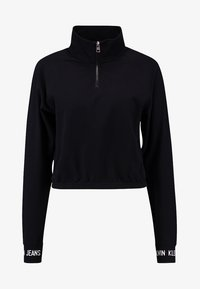 Calvin Klein Jeans - LOGO TAPE CROPPED NECK - Sweatshirt - black - 3