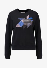 Calvin Klein Jeans - QUILT GRAPHIC CREW NECK - Sweatshirt - black - 3