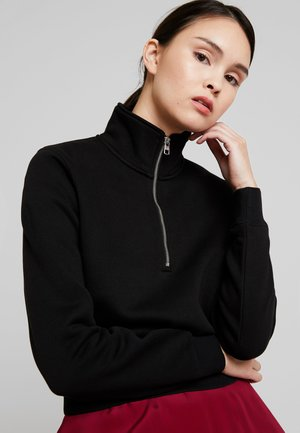 INSTIT BACK LOGO HALF ZIP - Sweatshirt - black