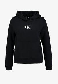 Calvin Klein Jeans - MONOGRAM BOXY HOODIE - Hoodie - black - 4