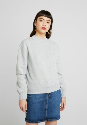 EMBROIDERY REGULAR CREW NECK - Sweater - light grey heather