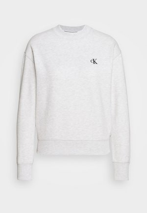 EMBROIDERY REGULAR CREW NECK - Sweatshirt - white grey heather