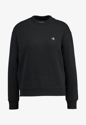 EMBROIDERY REGULAR CREW NECK - Sweater - black