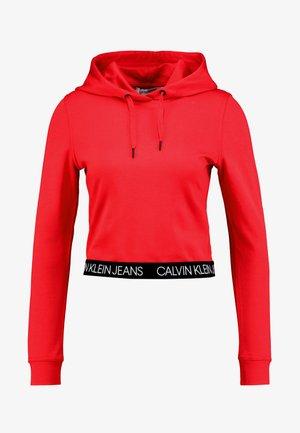 LOGO MILANO HOODIE - Felpa con cappuccio - racing red