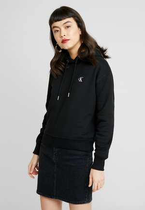 EMBROIDERY HOODIE - Sweat à capuche - black