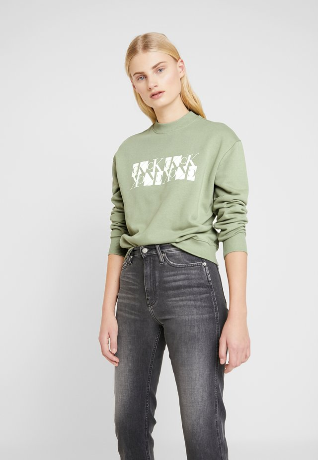 MIRRORED CREW NECK - Sweater - earth sage