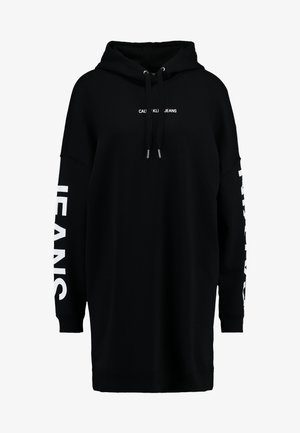 INSTITUTIONAL LOGO HOODIE DRESS - Denní šaty - black beauty