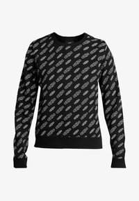 Calvin Klein Jeans - REGULAR CREW NECK - Sweatshirt - black beauty / bright white - 4