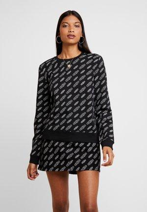 REGULAR CREW NECK - Sweatshirt - black beauty / bright white