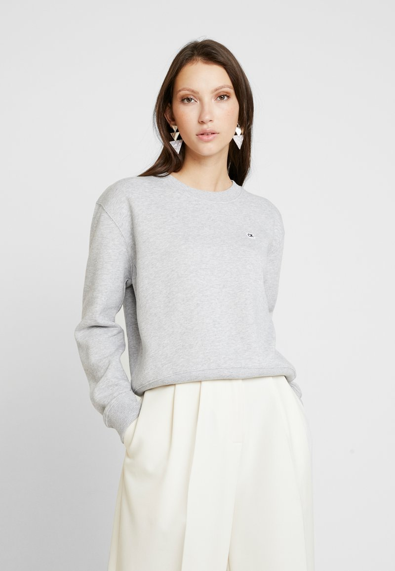 Calvin Klein Jeans - BOXY CREW NECK - Sweatshirt - light grey heather