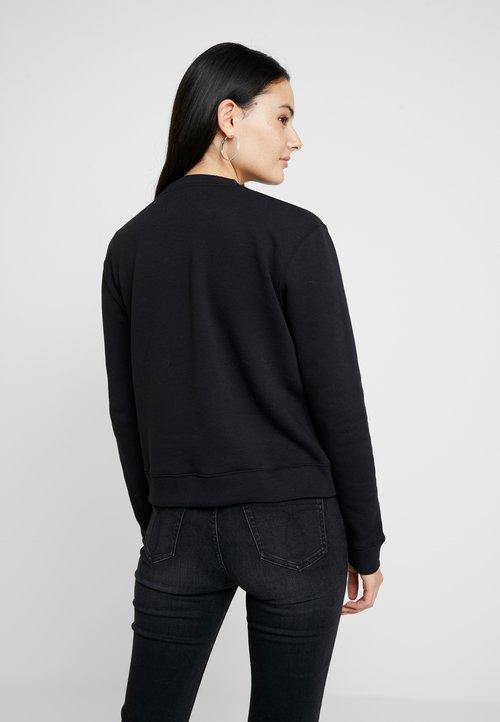 30% OBNIŻONE Calvin Klein Jeans BOXY CREW NECK - Bluza - black Odzież Damska EJPK-NS5