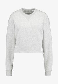 Calvin Klein Jeans - RAW HEM CREW NECK - Sweater - light grey heather - 5