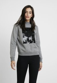 Calvin Klein Jeans - MOCK NECK - Sweatshirt - mid grey heather - 0