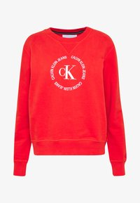 Calvin Klein Jeans - ROUND LOGO RELAXED - Mikina - fiery red - 5