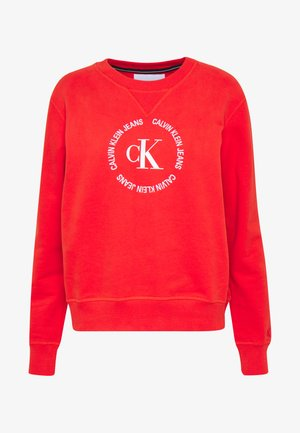 ROUND LOGO RELAXED - Sweatshirt - fiery red
