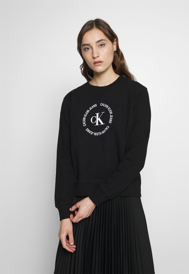 ROUND LOGO RELAXED - Sweater - ck black