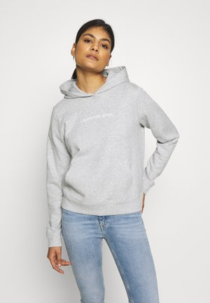 SHRUNKEN INSTITUTIONAL HOODIE - Sweat à capuche - light grey heather
