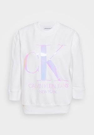 IRIDESCENT MONOGRAM - Sweatshirt - bright white
