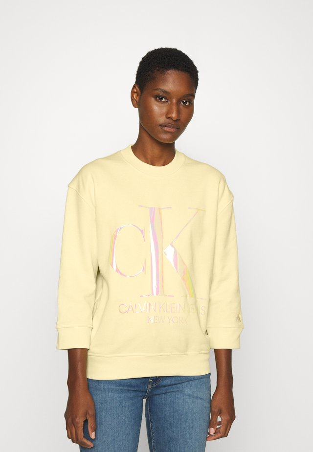 IRIDESCENT MONOGRAM - Mikina - light yellow